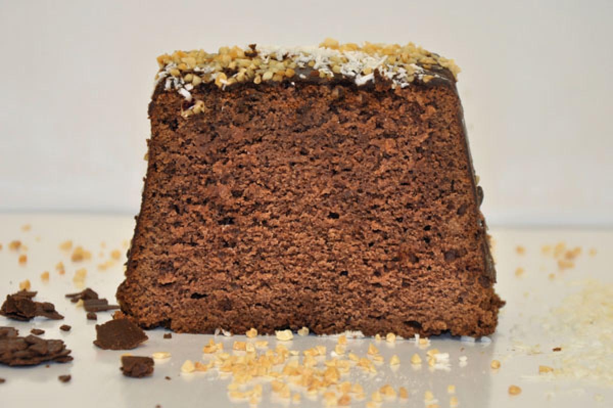 comber, mocno nasączone alkoholem ciasto czekoladowe
