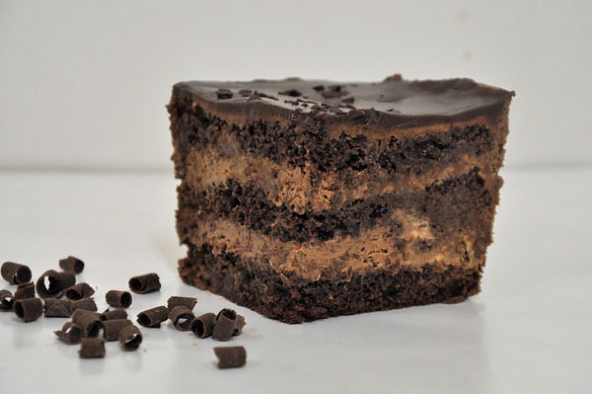 truflowe, ciasto czekoladowe z kremem czekoladowym